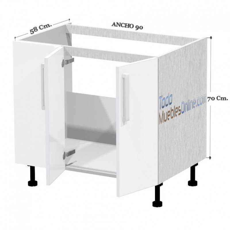 Muebles para fregadero de cocina dise os arquitect nicos for Muebles de cocina de 70 o 90