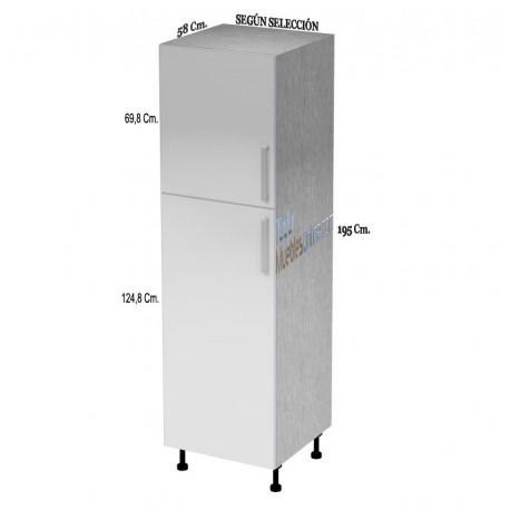 Muebles de cocina con puertas cajones for Muebles cocina 50 cm ancho