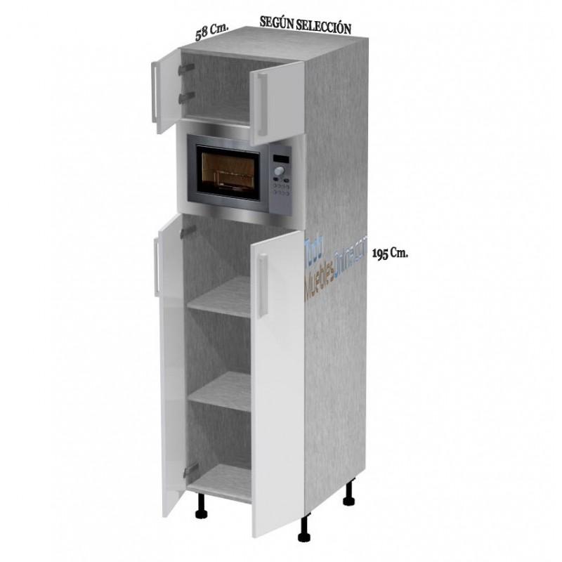 Muebles de cocina para horno microondas for Despensas de cocina a medida