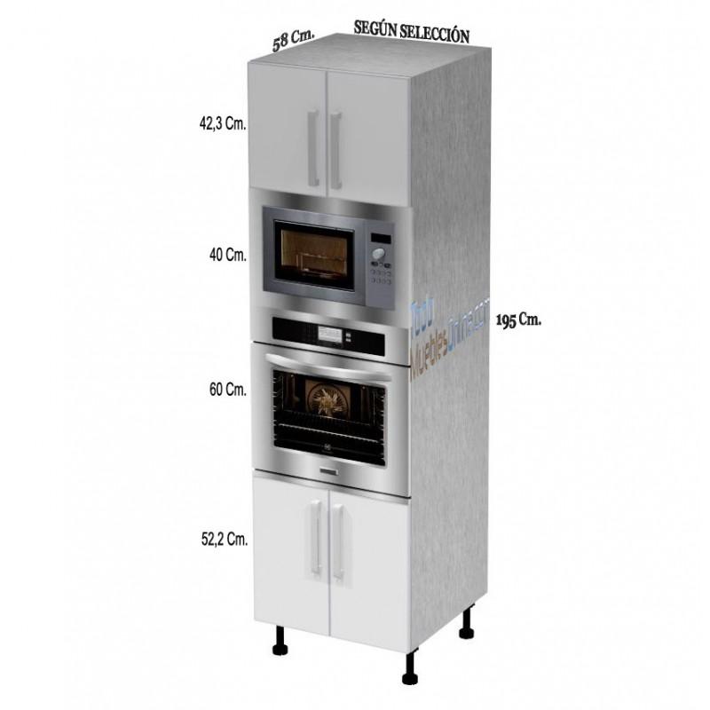 Muebles de cocina para horno microondas for Mueble horno y microondas