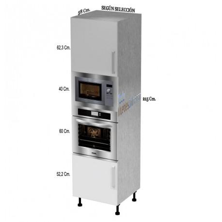 Muebles de cocina para horno microondas for Mueble columna cocina