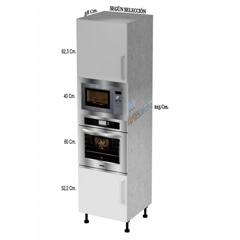 Muebles de cocina para horno microondas for Mueble para encastrar horno y encimera