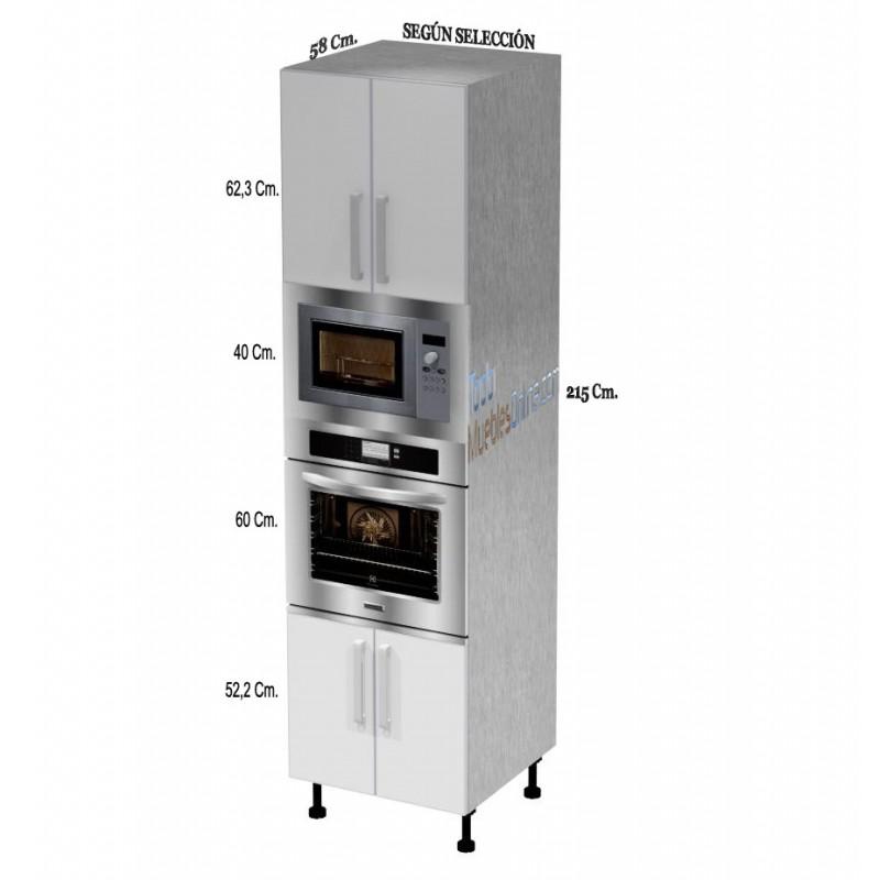 Muebles de cocina para horno microondas - Columna horno y microondas ...