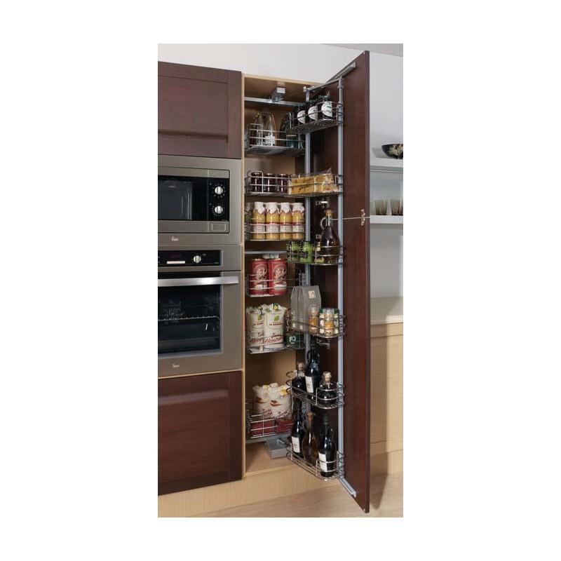 Muebles de cocina con puertas cajones for Muebles de cocina despensa