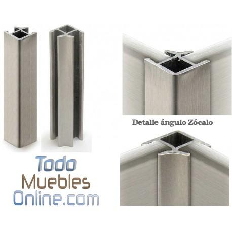 Rincón / Esquina Zócalo PVC imitación Aluminio 14,5 cm. de Altura