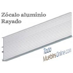 Tira de Zócalo Aluminio Rayado 14,5 cm. de Alto
