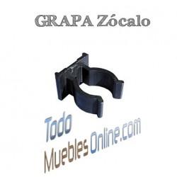 Grapa Zócalo PVC imitación Aluminio