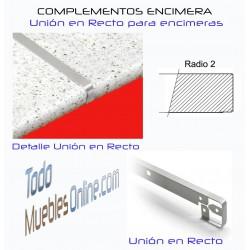 Unión Recta Encimera R2 para encimeras de fondo 63