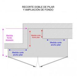 Recargo por CORTE de PILAR COLUMNAS / Corte de Pilar + reducción de fondo