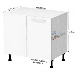 Bajos Rincon ANCHO 90 Herraje INOX Articulado