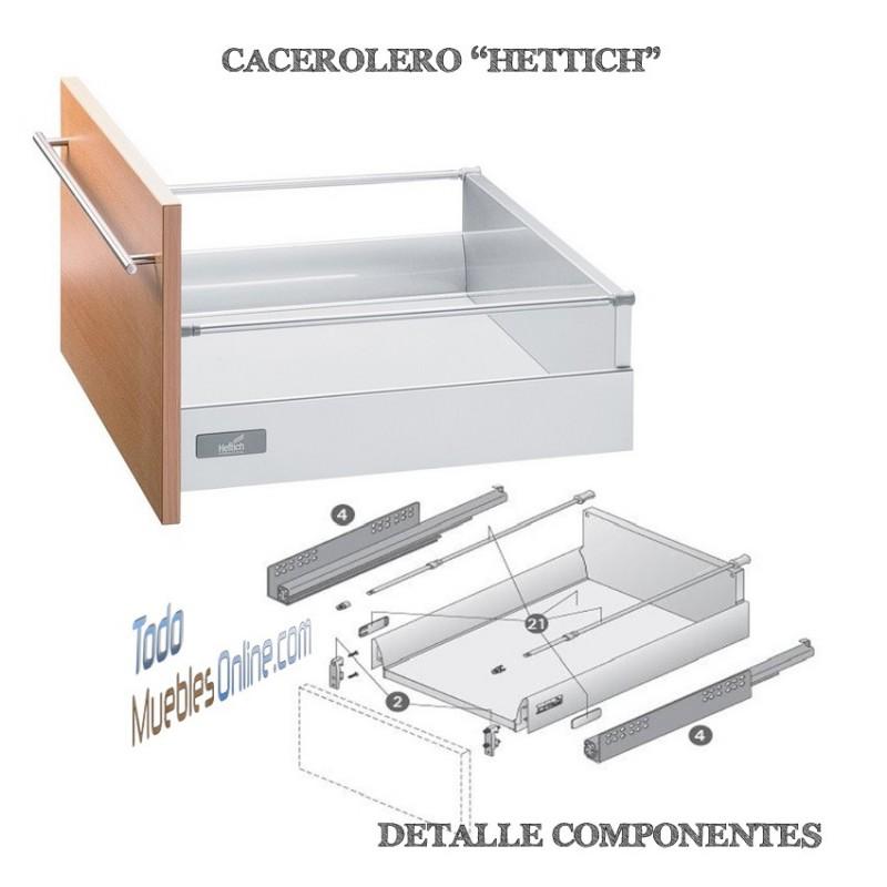 Muebles de cocina con cajones y caceroleros for Cajones para muebles de cocina