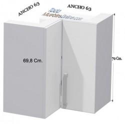 Rinconera Alta Angular para Calentador de 2 Puertas