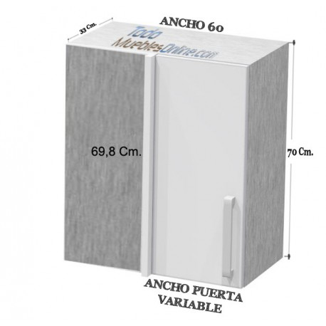 Altos rincon Ancho 60 de 1 Puerta