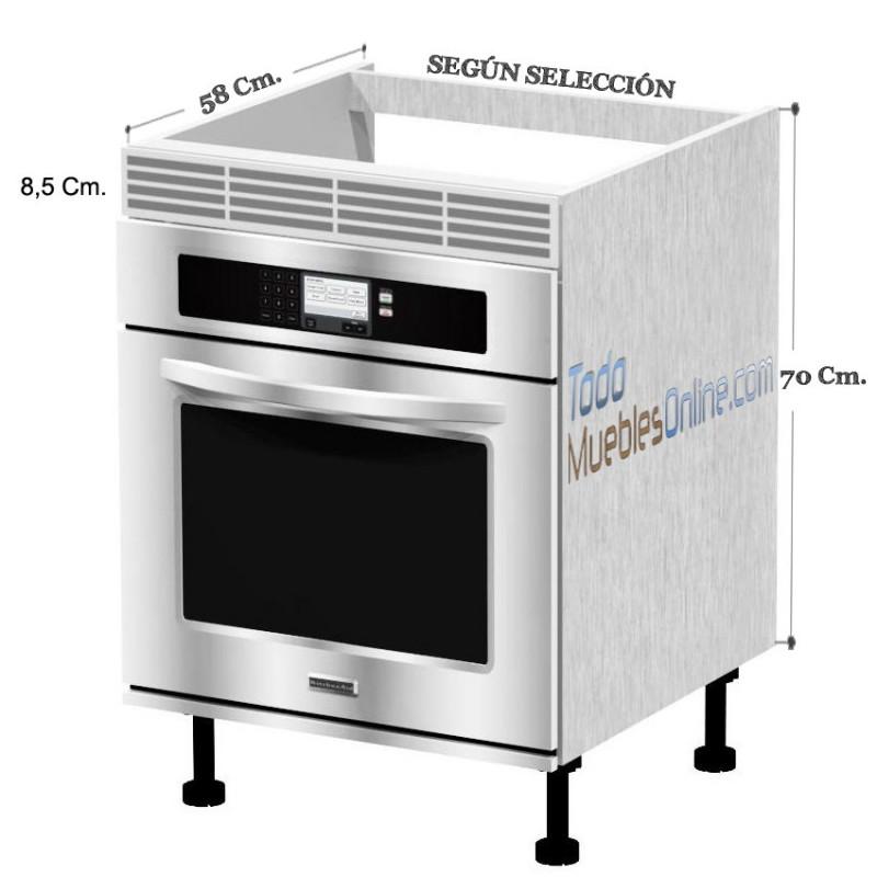 Muebles de cocina para horno for Mueble para encastrar horno y encimera