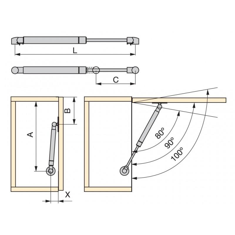 Muebles de cocina abatibles - Altura de muebles de cocina ...